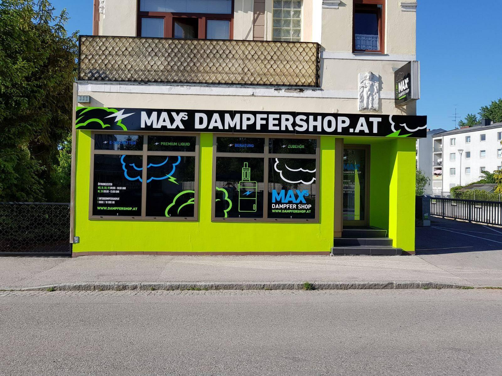 Max-Dampfershop aussen